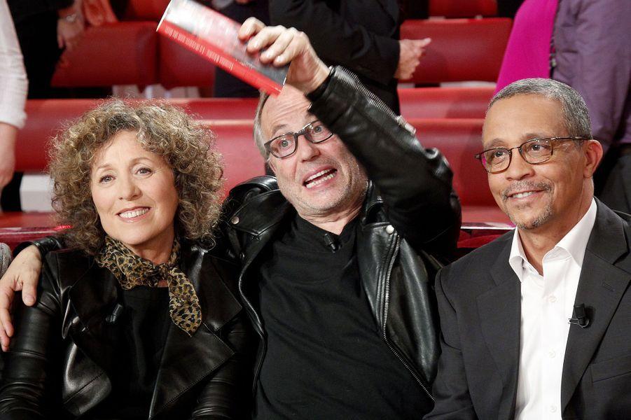 Mireille Dumas, Fabrice Luchini et Yasmina Khadra