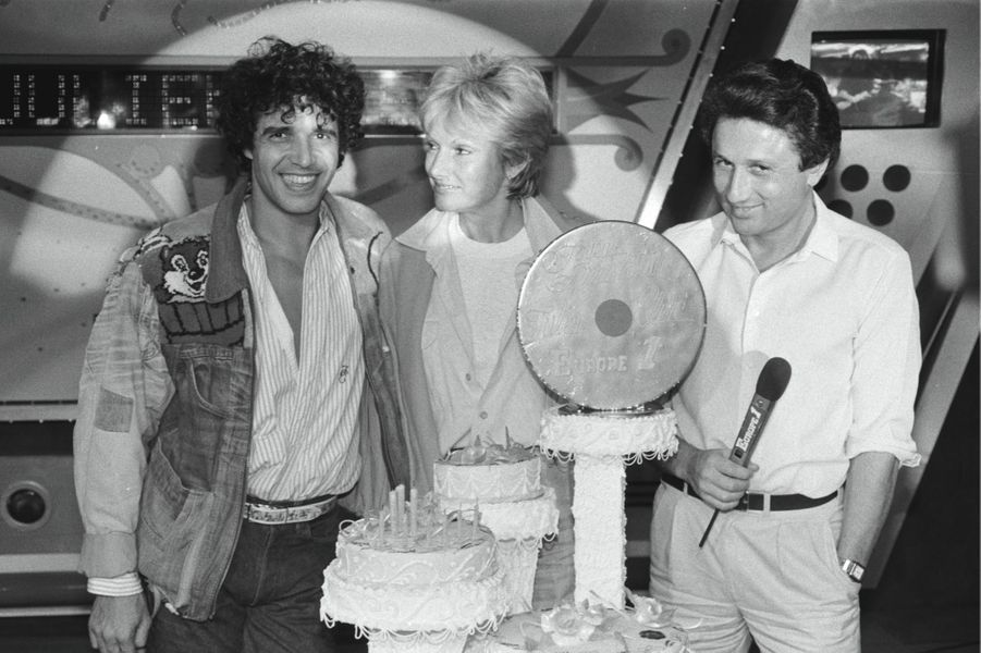 À l'anniversaire de Julien Clerc en octobre 1983