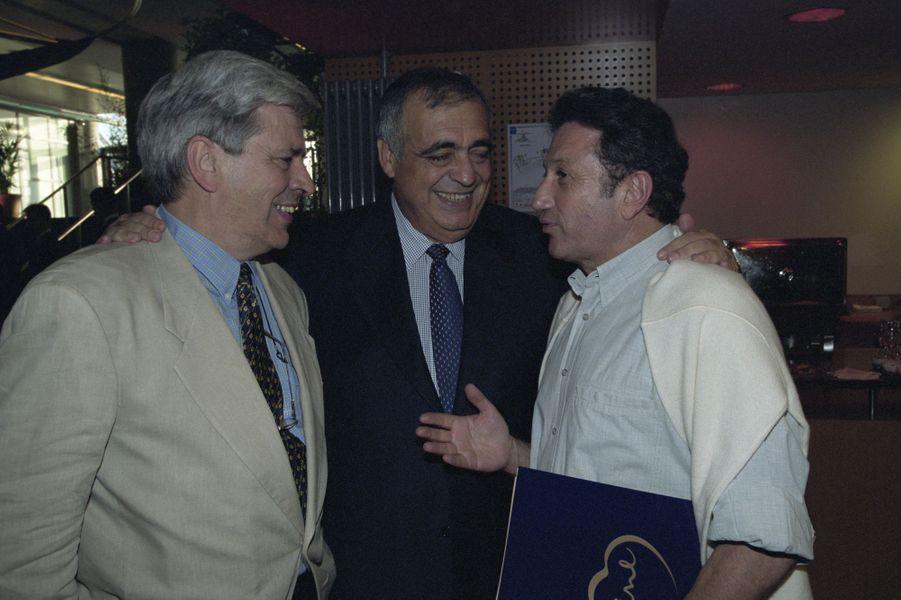 Aux côtés de Philippe Séguin au Stade de France pour le concert de Céline Dion le 20 juin 1999