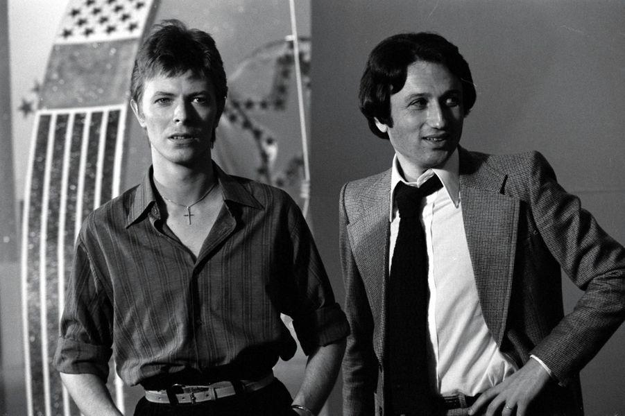 David Bowie et Michel Drucker, réunis en octobre 1977 à la télévision