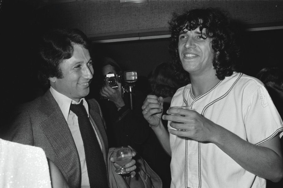Julien Clerc et Michel Drucker au Palais des Congrès en octobre 1978