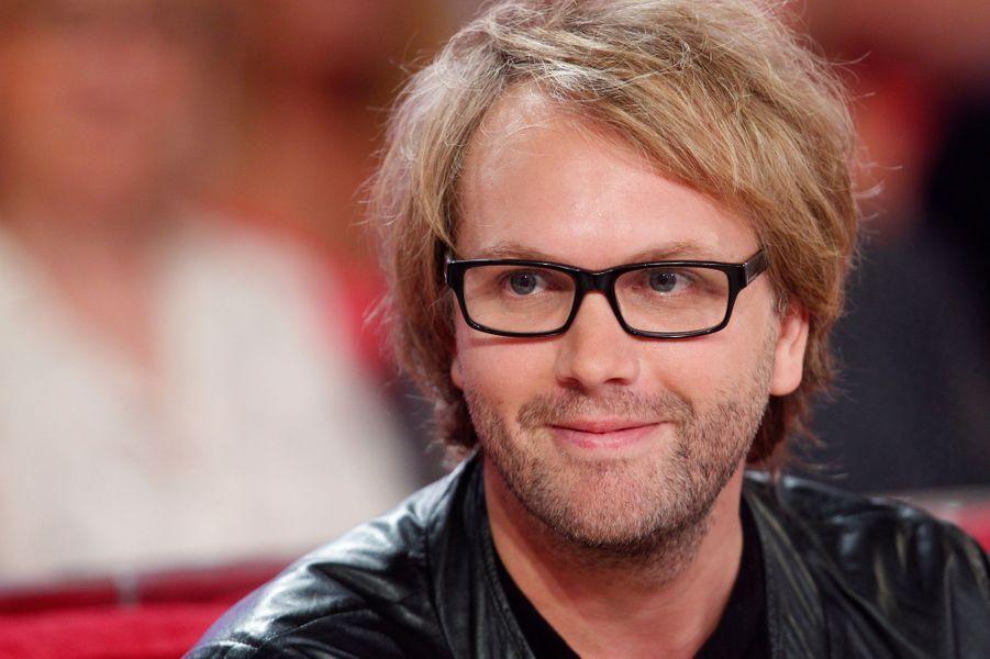 Florian Zeller lors de l'enregistrement de «Vivement Dimanche» le 2 septembre 2015.