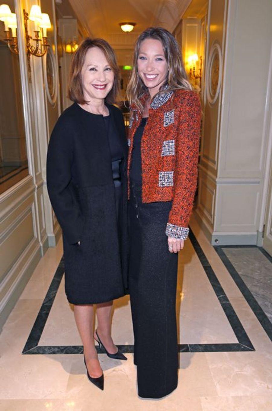 Soirée Révélations des César 2015 dans les salons de Chaumet. Nathalie et Laura y sont présentes, le 12 janvier 2015