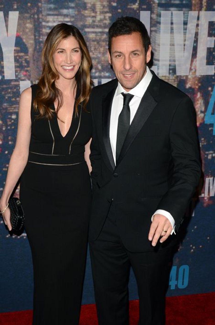 Adam et Jackie Sandler à New York le 15 février 2015