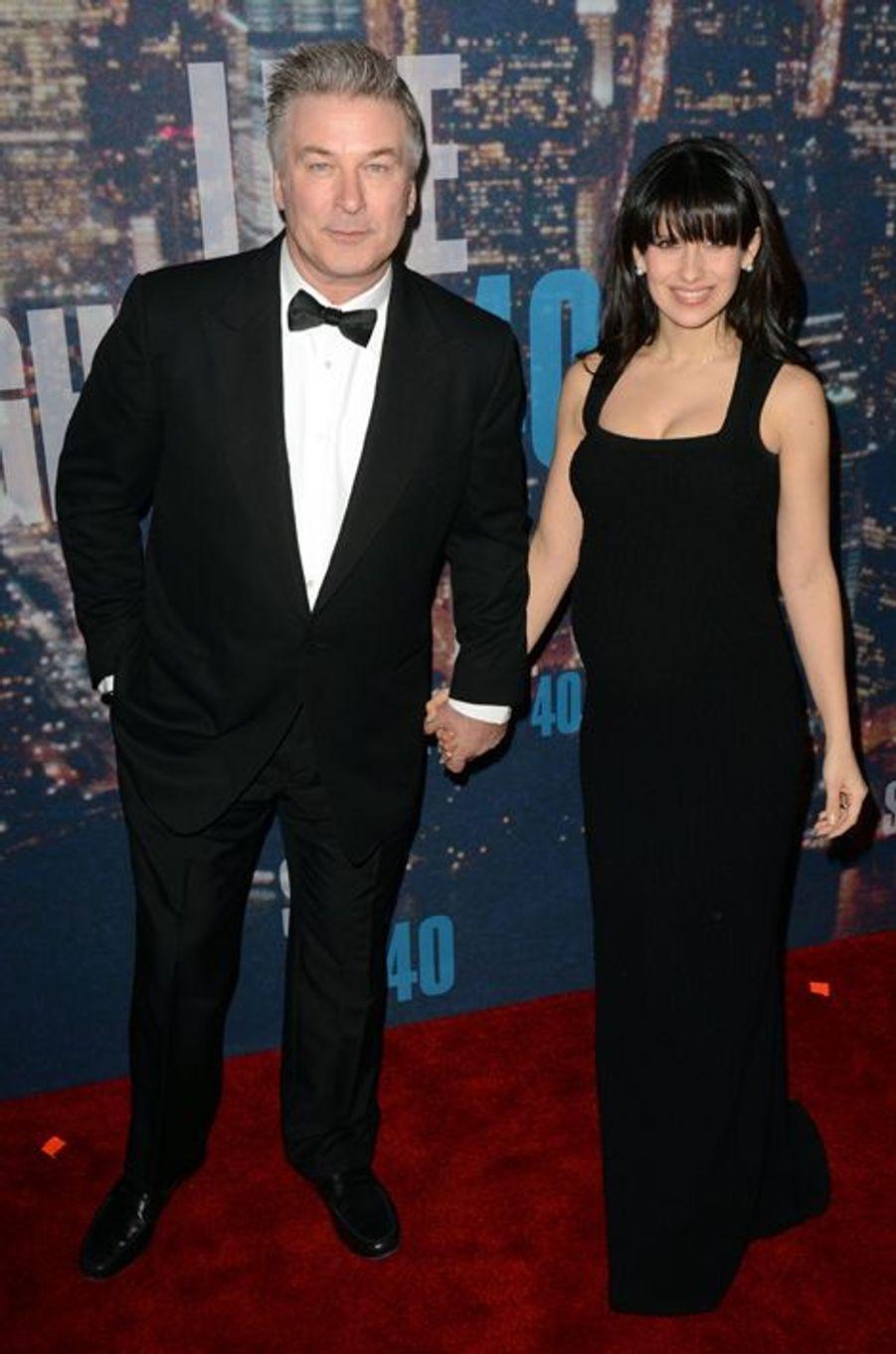 Alec et Hilaria Baldwin à New York le 15 février 2015