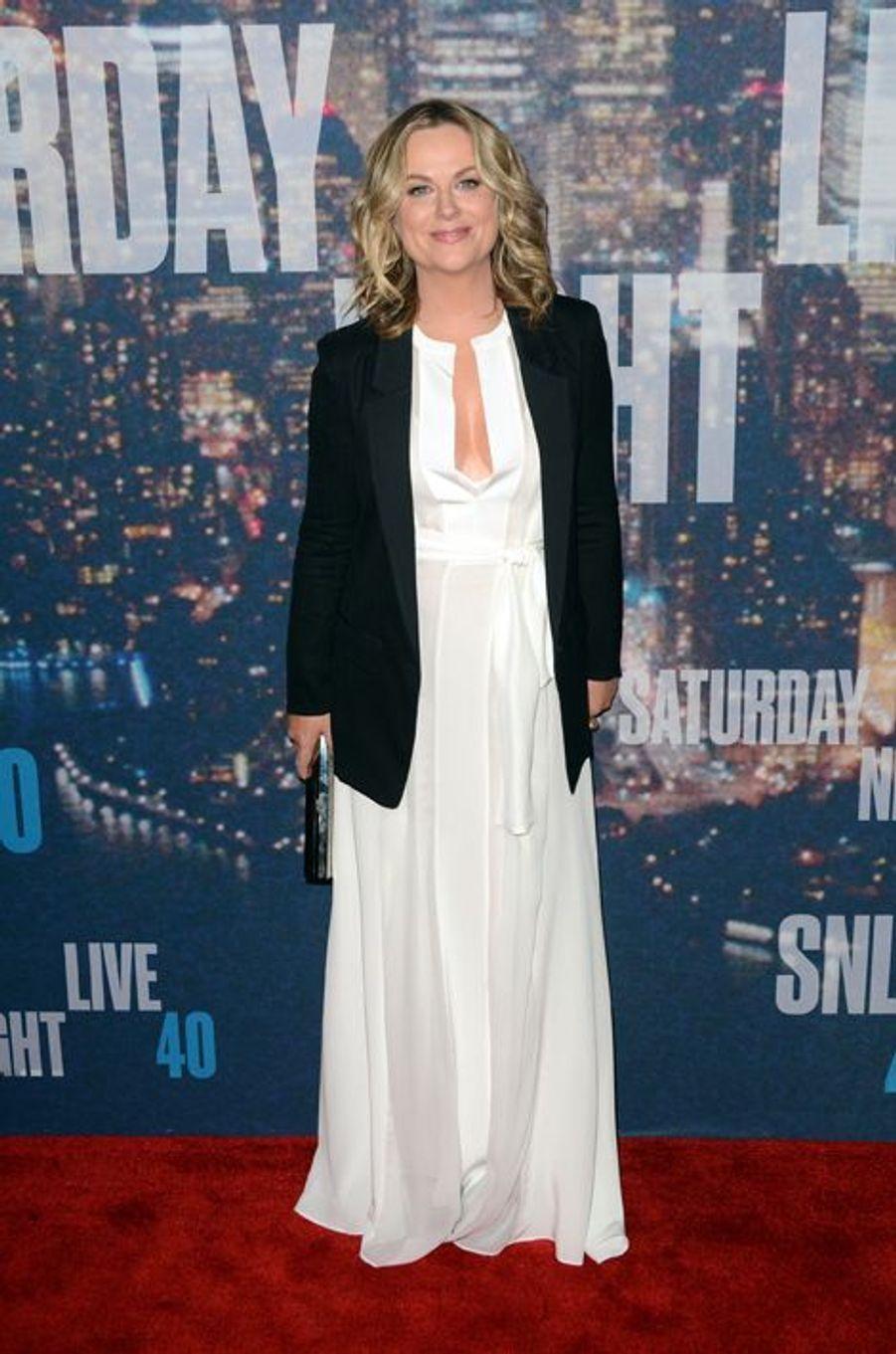 Amy Poehler à New York le 15 février 2015