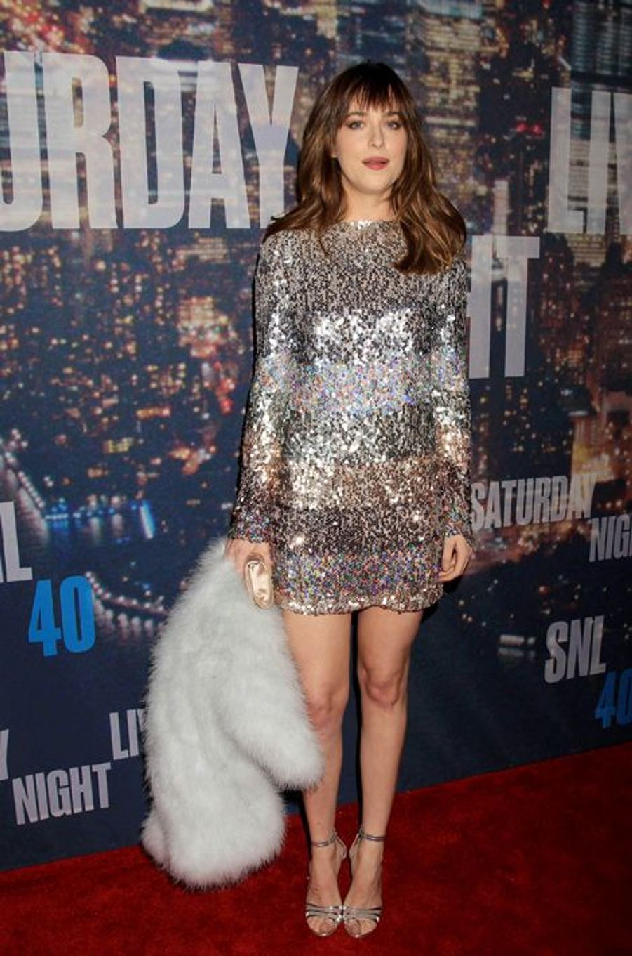 Dakota Johnson à New York le 15 février 2015