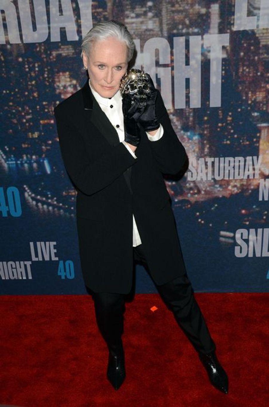 Glenn Close à New York le 15 février 2015