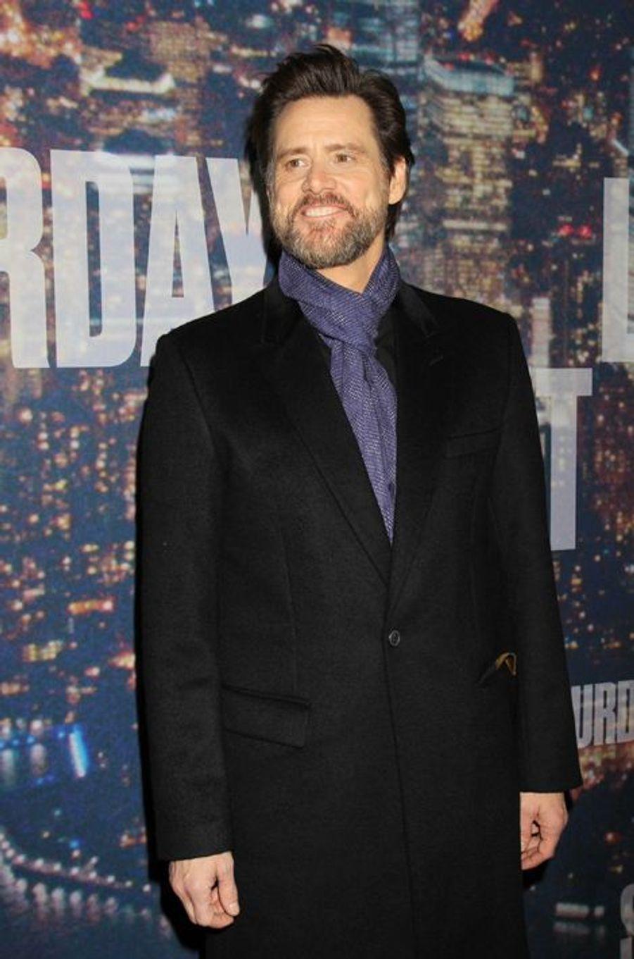 Jim Carrey à New York le 15 février 2015