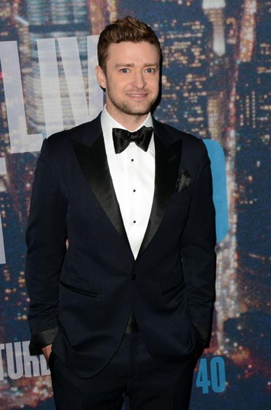 Justin Timberlake à New York le 15 février 2015