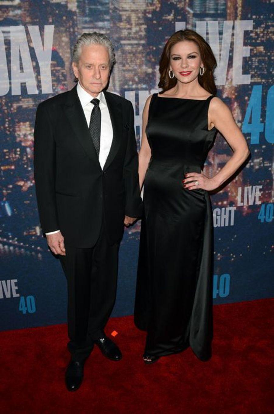 Michael Douglas et Catherine Zeta Jones à New York le 15 février 2015