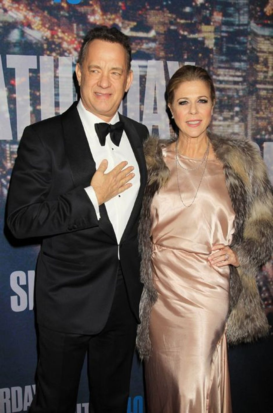 Tom Hanks et Rita Wilson à New York le 15 février 2015