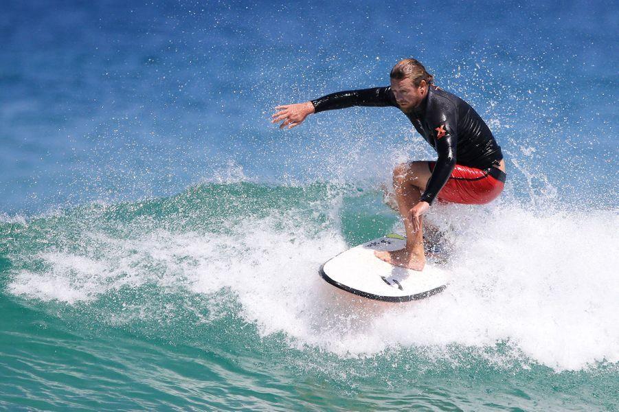 Pause sportive pour Simon Baker à Sydney