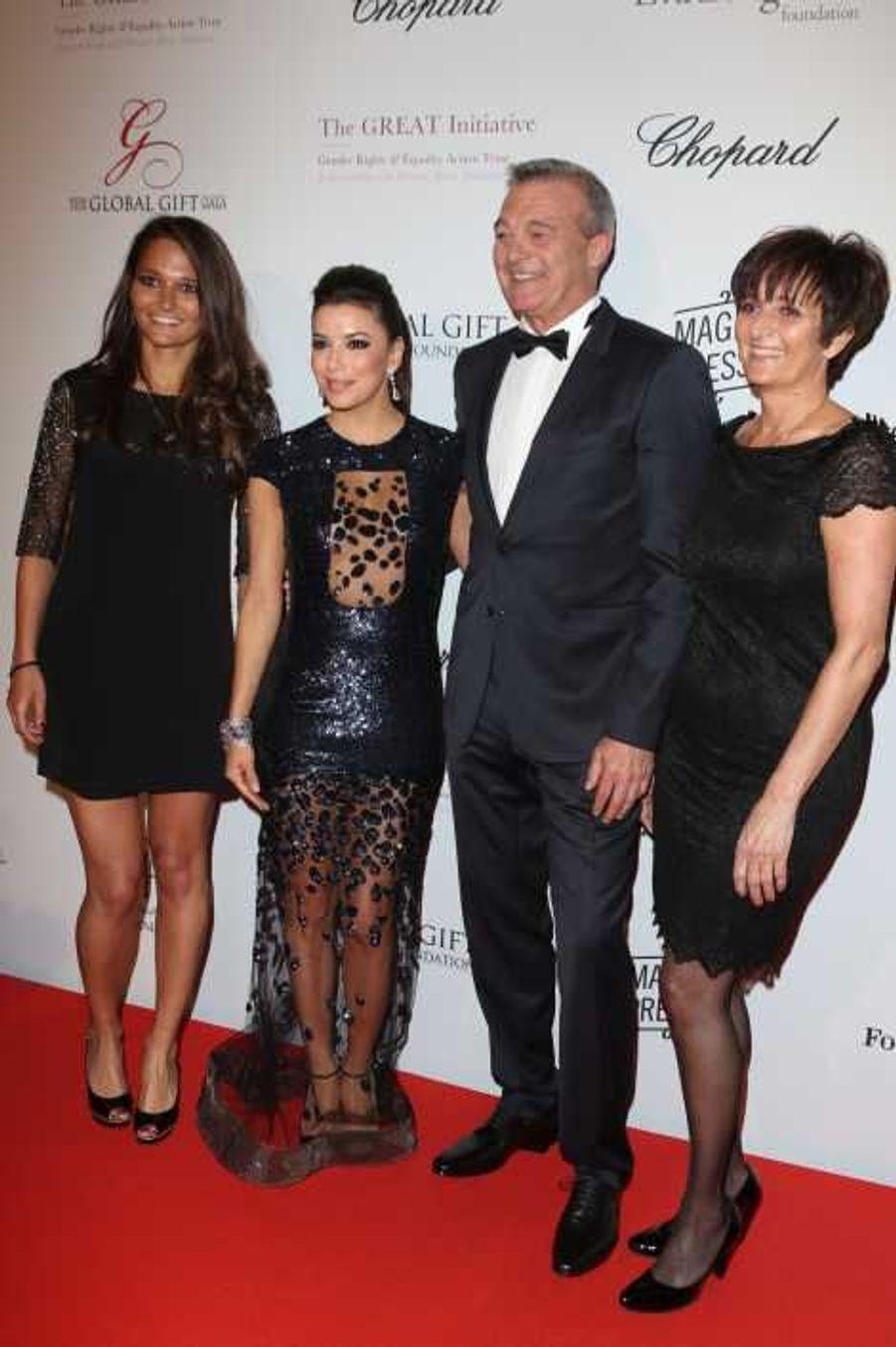 Eva Longoria et la famille de Grégory