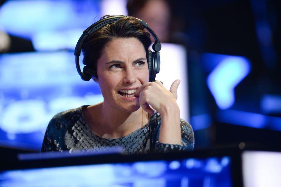 Alessandra Sublet au Téléthon 2014 à Paris, le 6 décembre 2014