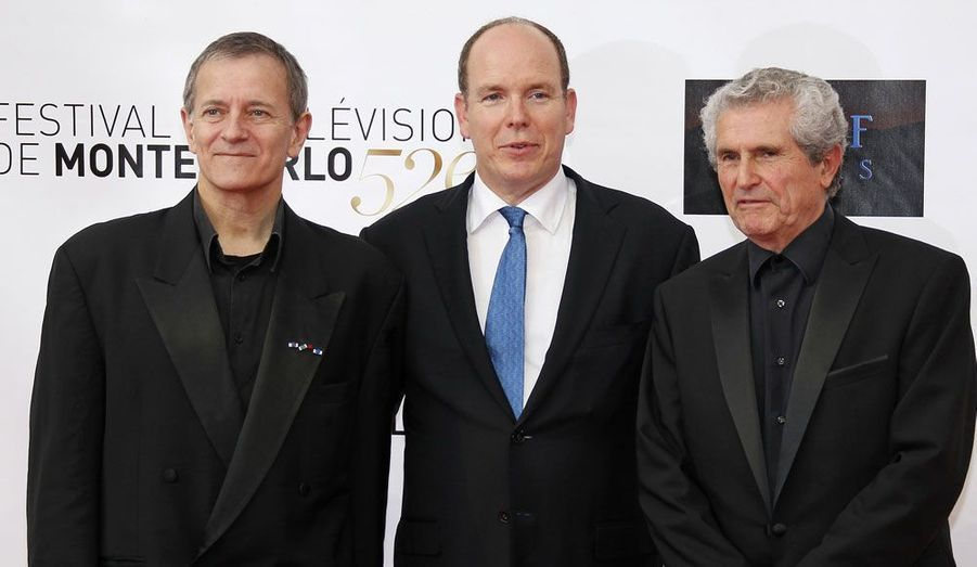 Francis Huster, le prince Albert II et Claude Lelouch