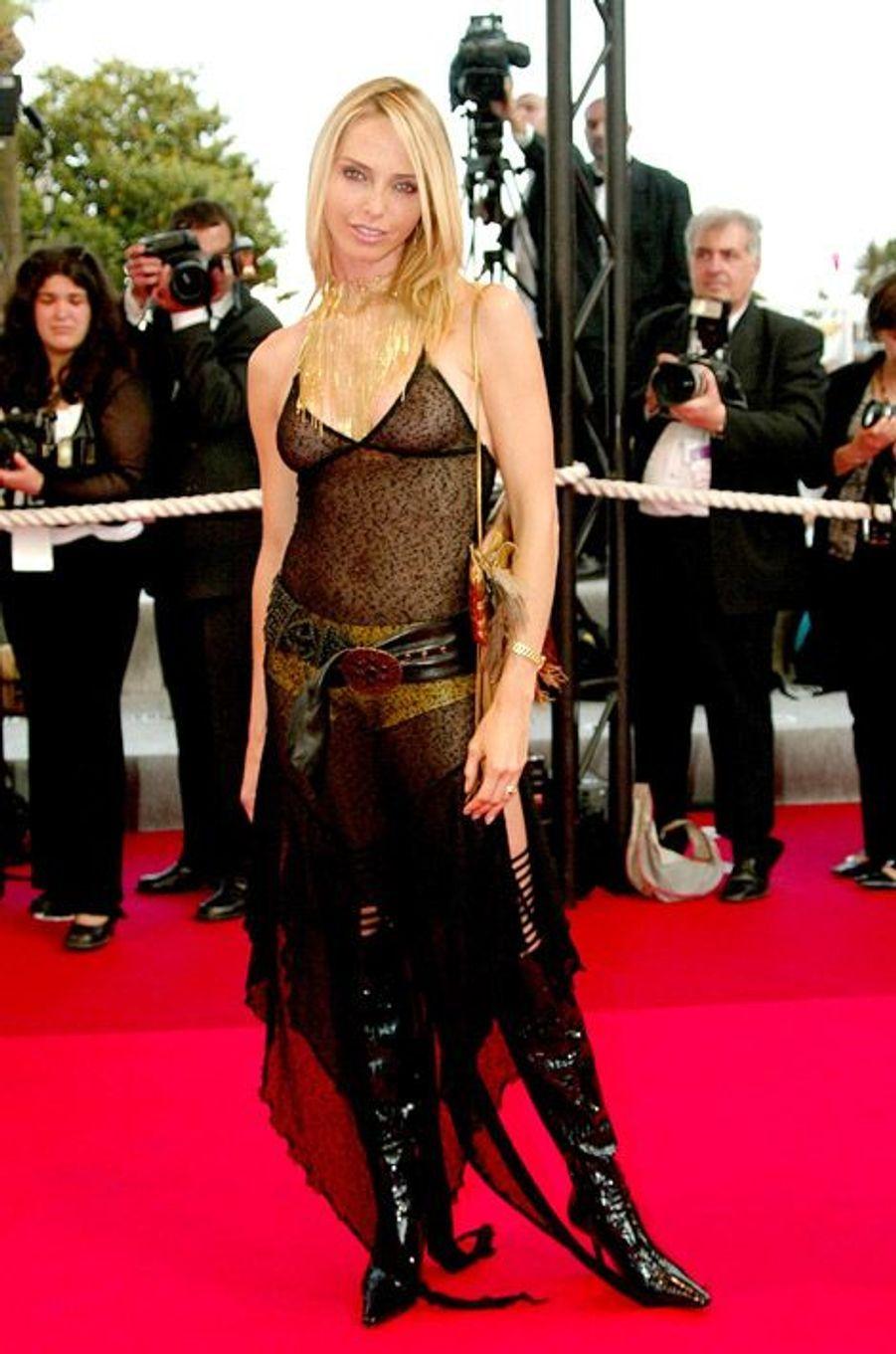 Tonya Kinzinger au Festival de Cannes 2002