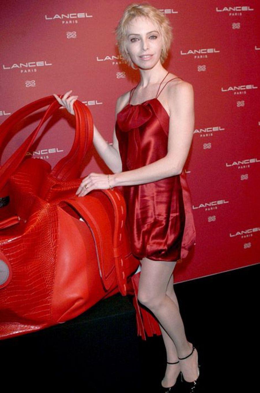Tonya Kinzinger au photo-call d'une soirée Lancel en 2007