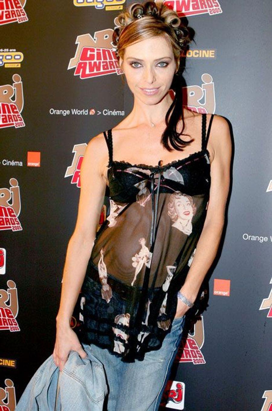 Tonya Kinzinger aux NRJ Ciné Awards en 2005