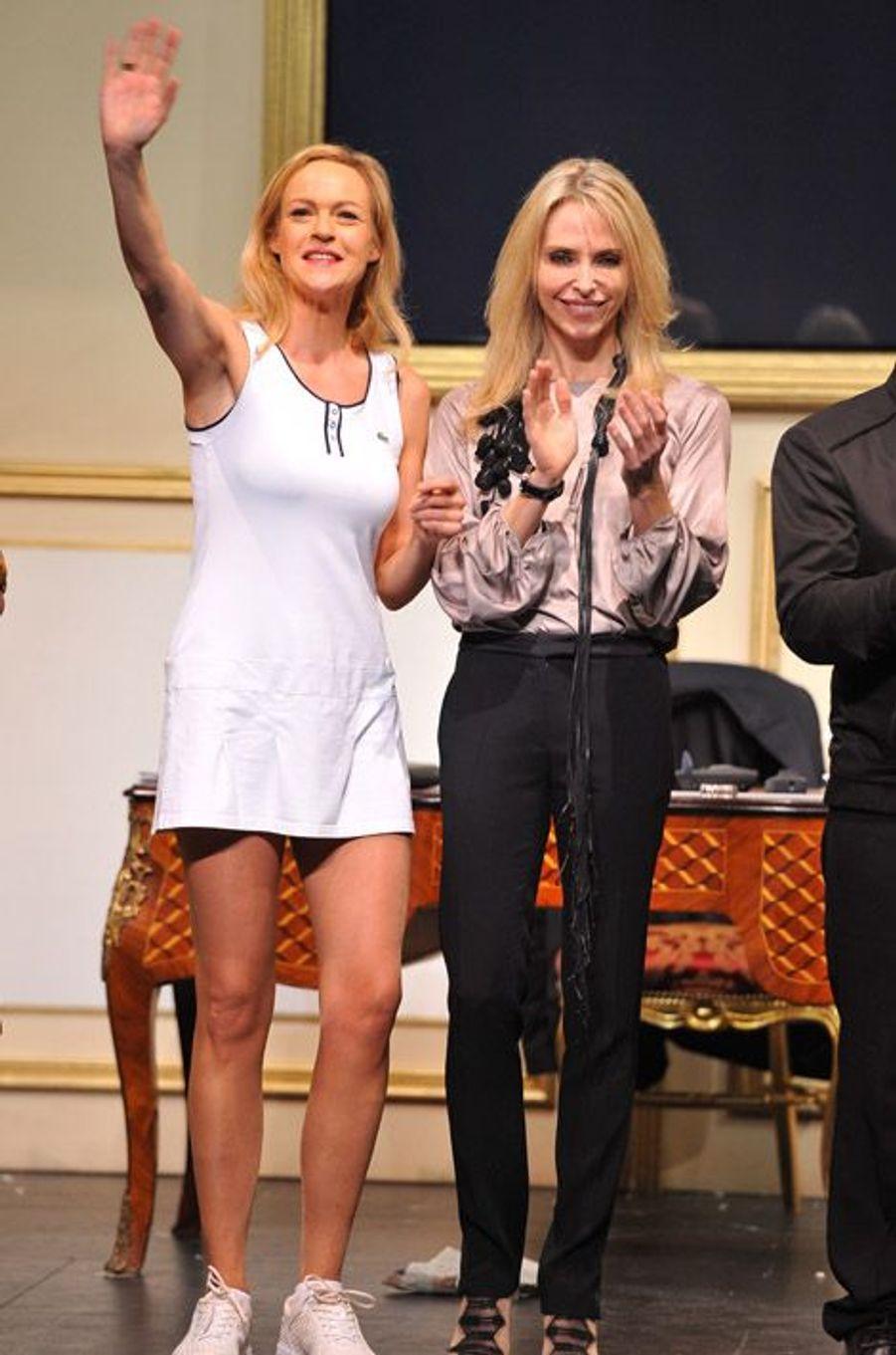 Tonya Kinzinger dans la pièce Le président, sa femme et moi, en 2011