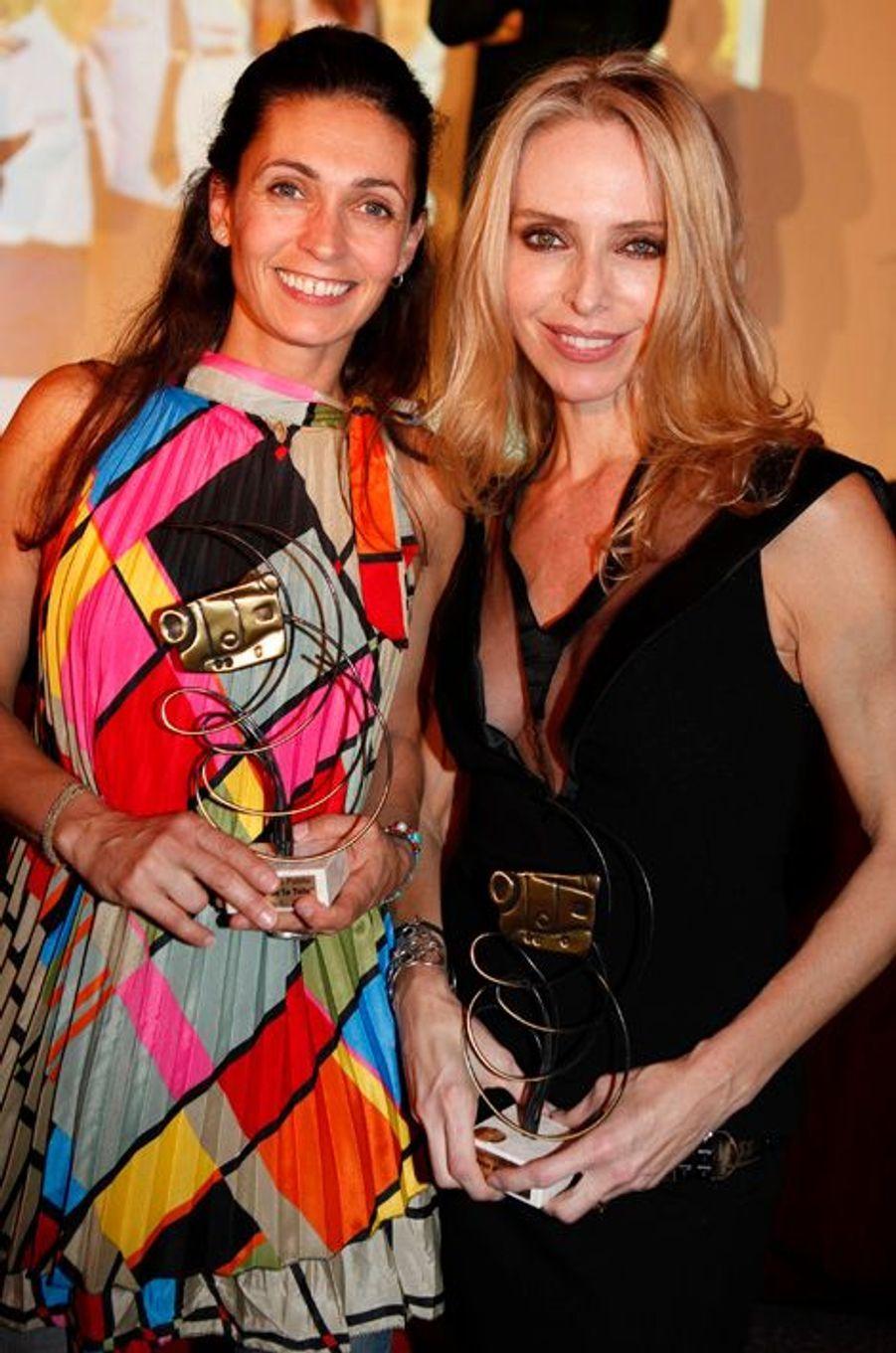 Tonya Kinzinger et Adeline Blondieau se retrouvent au Gala des héros de la télé, 2012