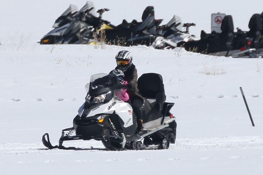Le clan Kardashian en vacances au ski dans le Colorado, le 6 avril 2016