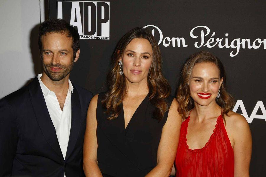 Natalie Portman et Benjamin Millepied, lors du gala du L.A. Dance Project,au musée Hauser & Wirthde Los Angeles.