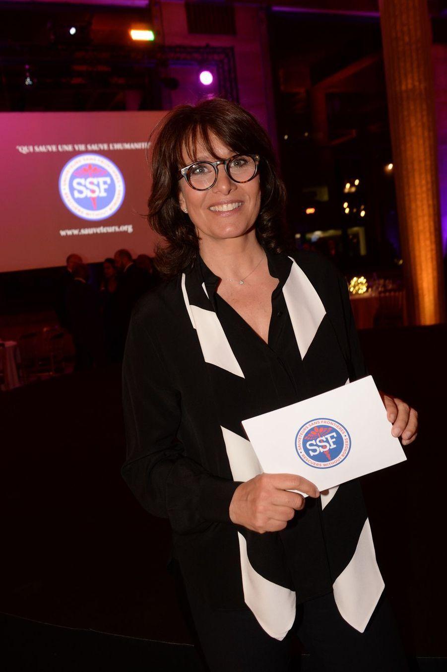 """Carole Rousseauà la 9ème édition du gala de l'association """"Sauveteurs Sans Frontières"""" au palais d'Iéna à Paris le 25 mars 2019"""