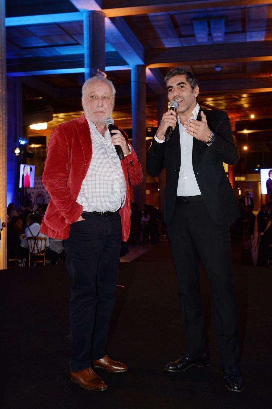 """François Berléand et Ary Abittanà la 9ème édition du gala de l'association """"Sauveteurs Sans Frontières"""" au palais d'Iéna à Paris le 25 mars 2019"""