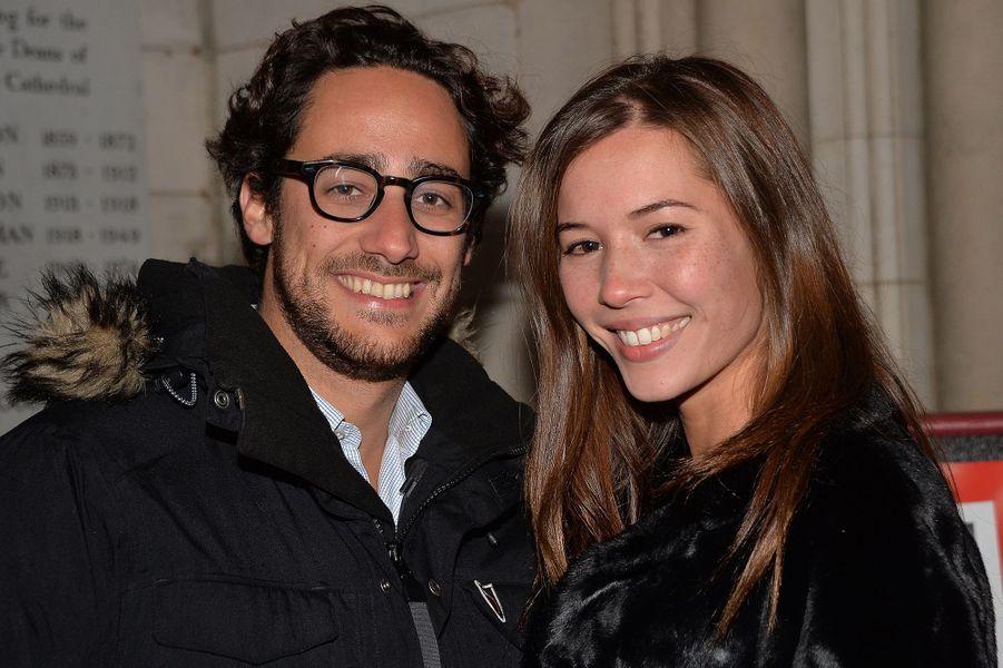 Thomas Hollande et sa compagne Emilie à la soirée Fooding, à la cathédrale américaine de Paris, le 7 novembre 2016.