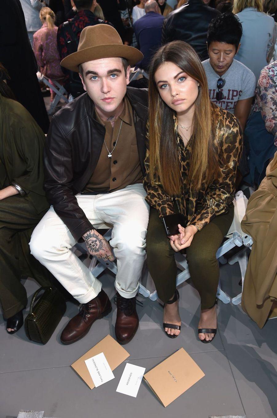 Gabriel-Kane Day-Lewis et Thylane Blondeau au défilé Michael Kros à la Fashion Week de New York, le 13 septembre 2017.