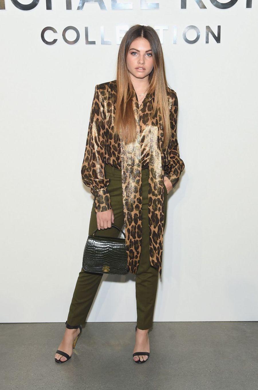 Thylane Blondeauau défilé Michael Kros à la Fashion Week de New York, le 13 septembre 2017.