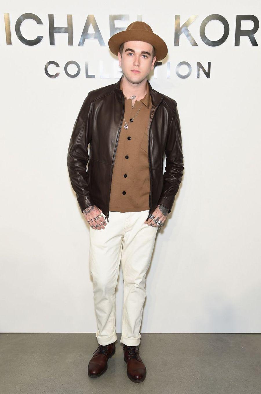 Gabriel-Kane Day-Lewisau défilé Michael Kros à la Fashion Week de New York, le 13 septembre 2017.