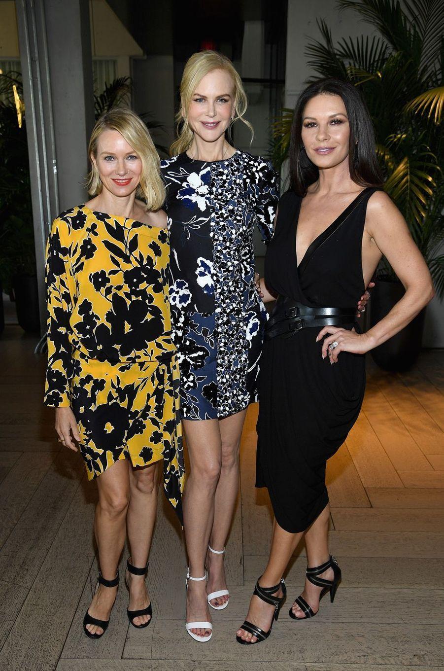 Naomi Watts, Nicole Kidman et Catherine Zeta Jonesau défilé Michael Kros à la Fashion Week de New York, le 13 septembre 2017.