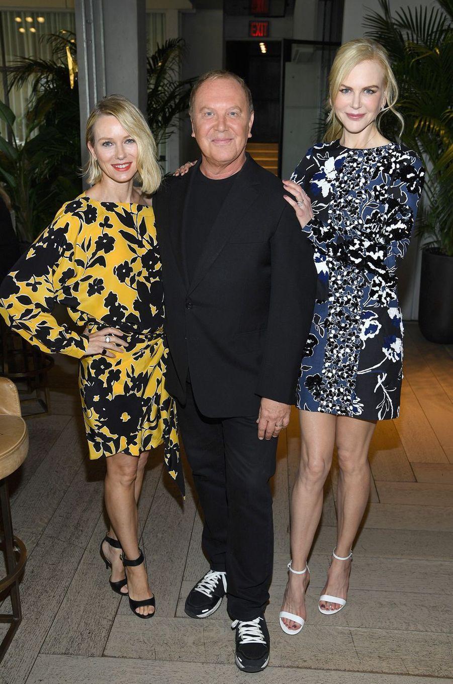 Naomi Watts, Michael Kros et Nicole Kidmanau défilé Michael Kros à la Fashion Week de New York, le 13 septembre 2017.