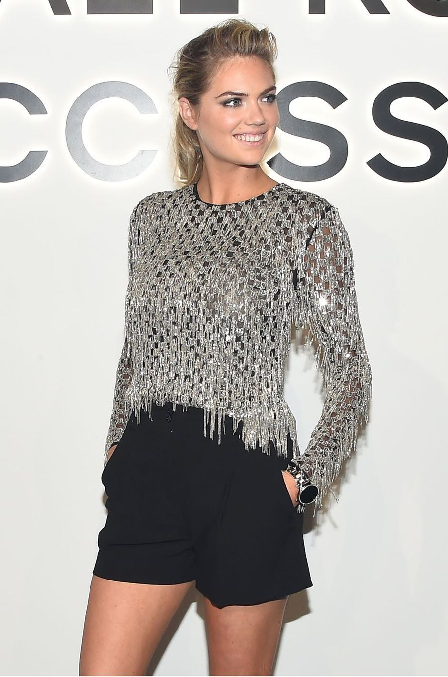 Kate Uptonau défilé Michael Kros à la Fashion Week de New York, le 13 septembre 2017.