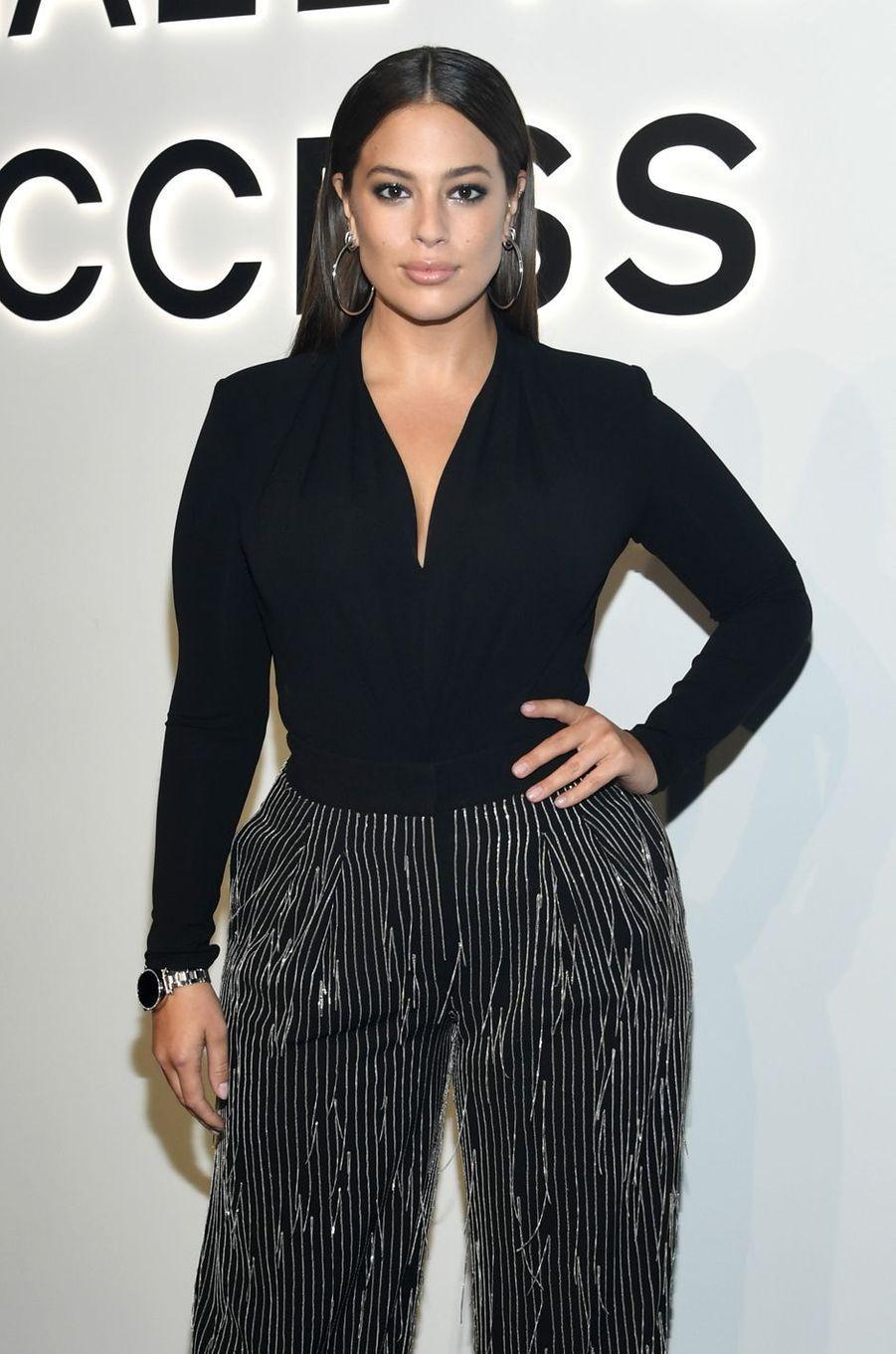 Ashley Grahamau défilé Michael Kros à la Fashion Week de New York, le 13 septembre 2017.