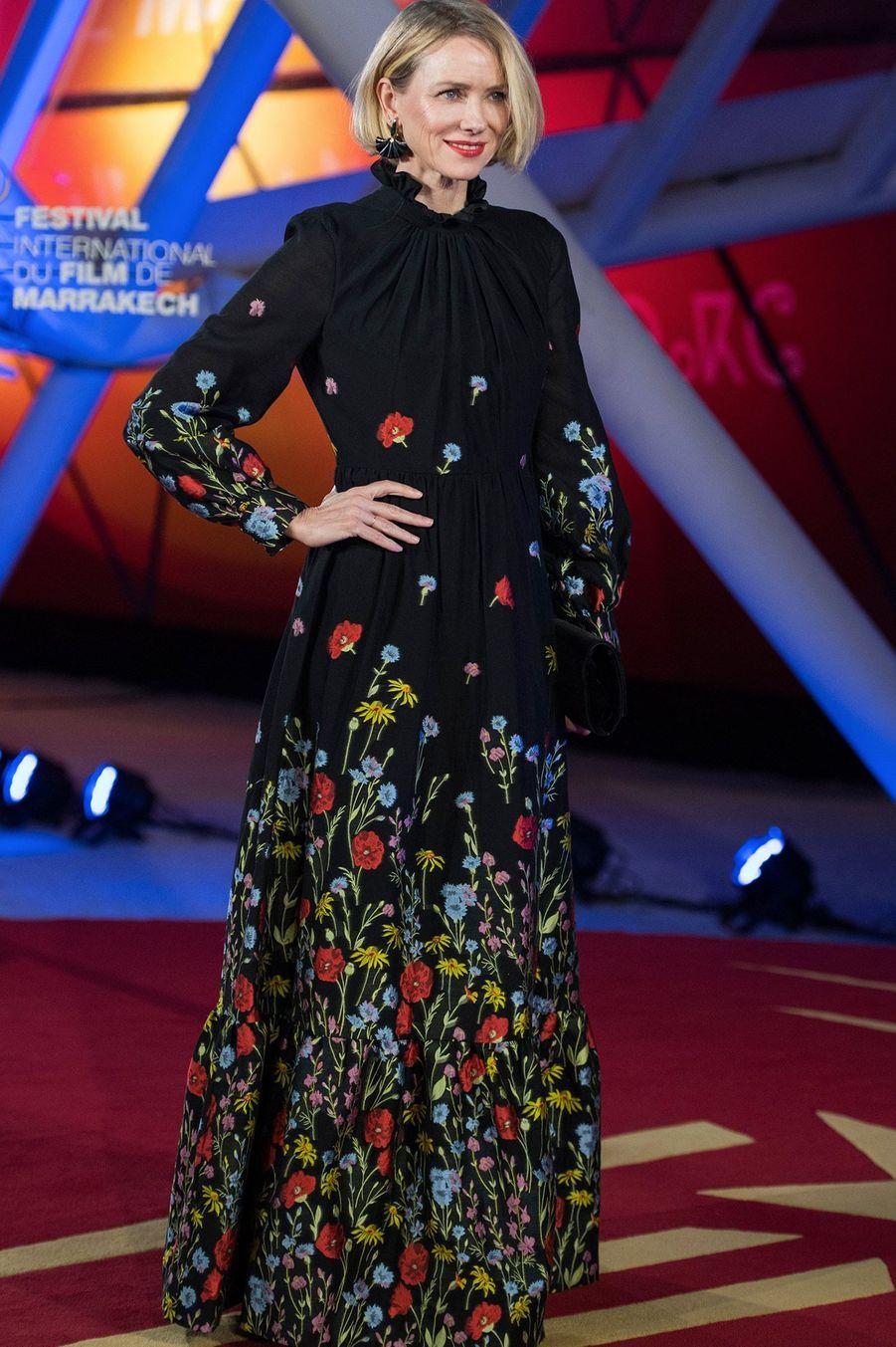 Naomi Watts,à l'ouverture du festival international du film deMarrakech, le 29 novembre 2019.
