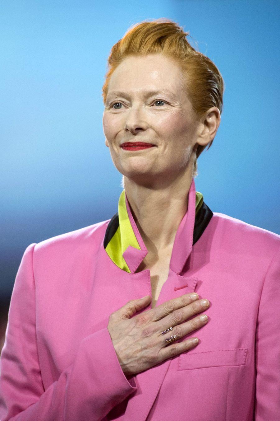 Tilda Swinton,à l'ouverture du festival international du film deMarrakech, le 29 novembre 2019.