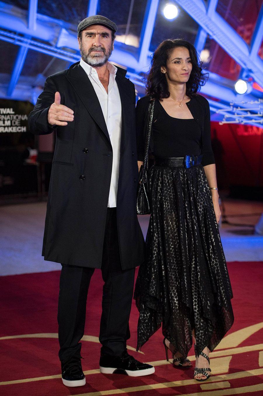 Eric Cantona et sa compagne Rachida Brakni,à l'ouverture du festival international du film deMarrakech, le 29 novembre 2019.