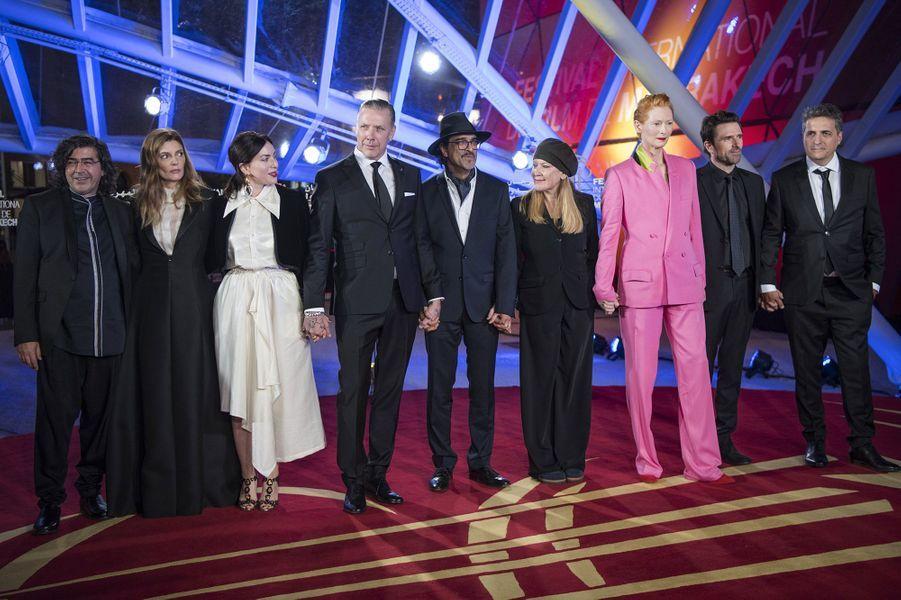 Le jury,à l'ouverture du festival international du film deMarrakech, le 29 novembre 2019.