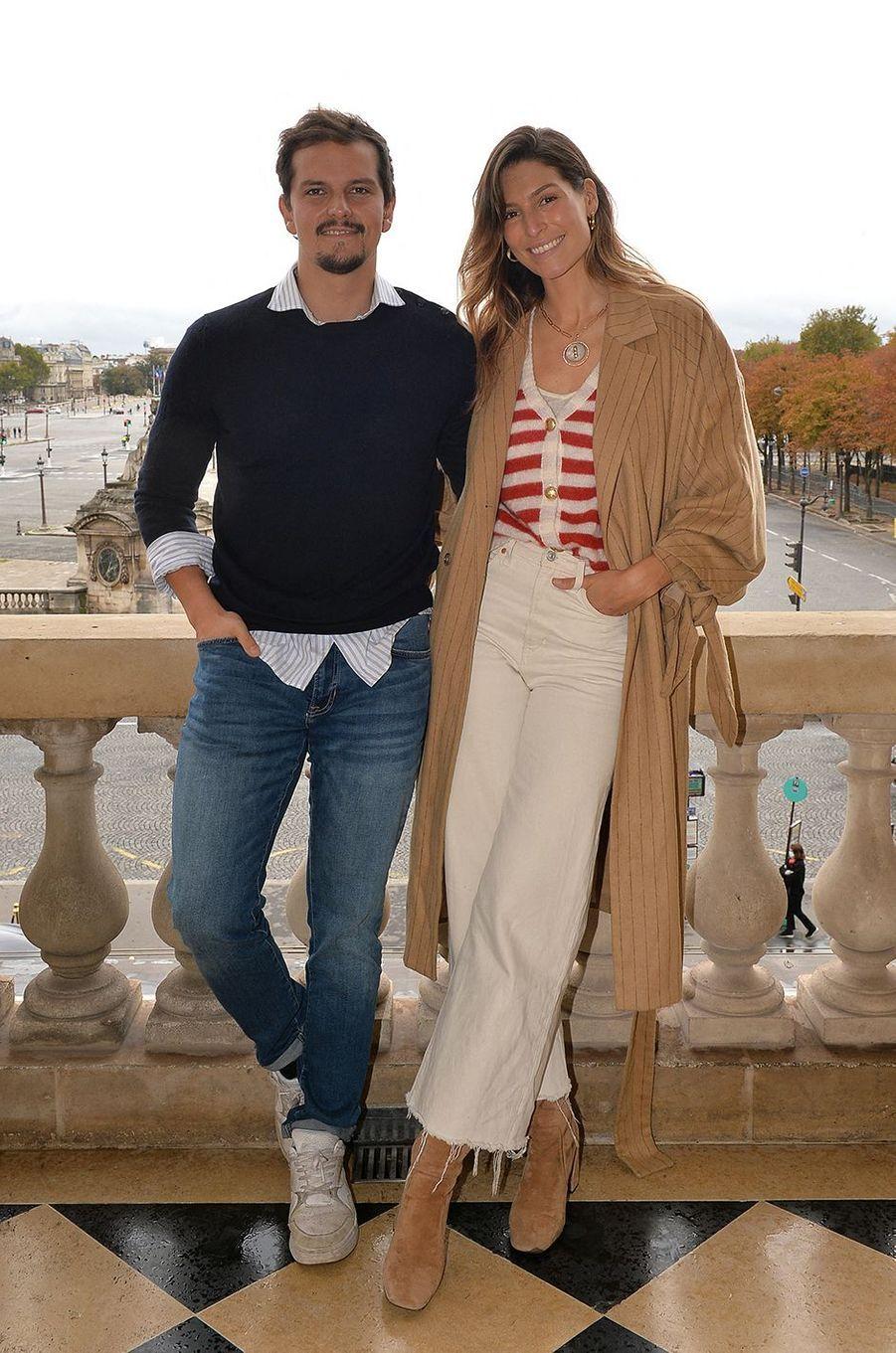 Juan Arbelaez et Laury Thillemanà l'hôtel de Crillon à Paris le 5 octobre 2020