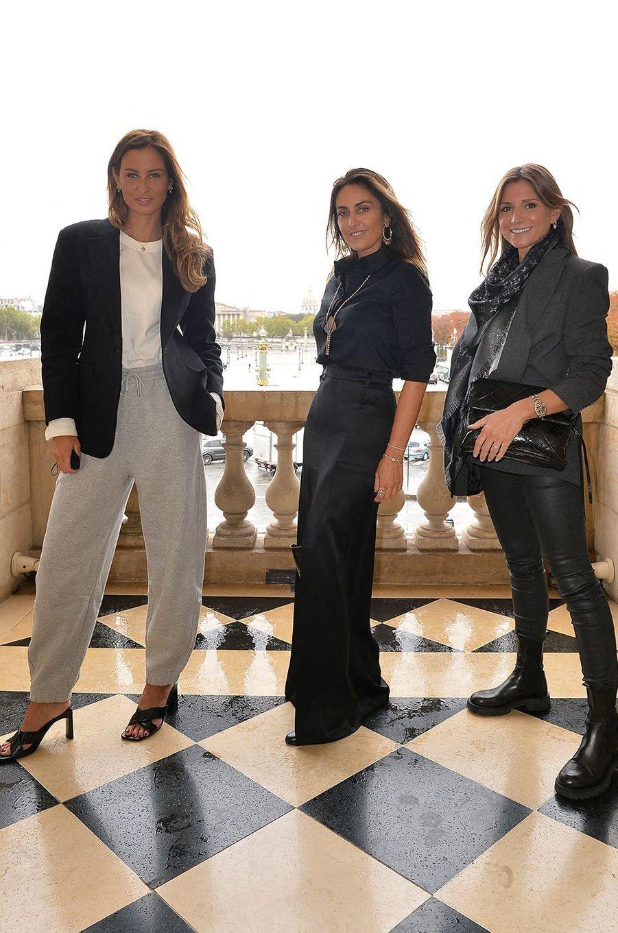 Malika Ménard, Valérie Messika et Anne Sophie Lautoaà l'hôtel de Crillon à Paris le 5 octobre 2020