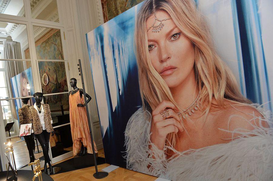 Présentation de la nouvelle collection de Haute Joaillerie «Valérie Messika by Kate Moss» à l'hôtel de Crillon à Paris le 5 octobre 2020