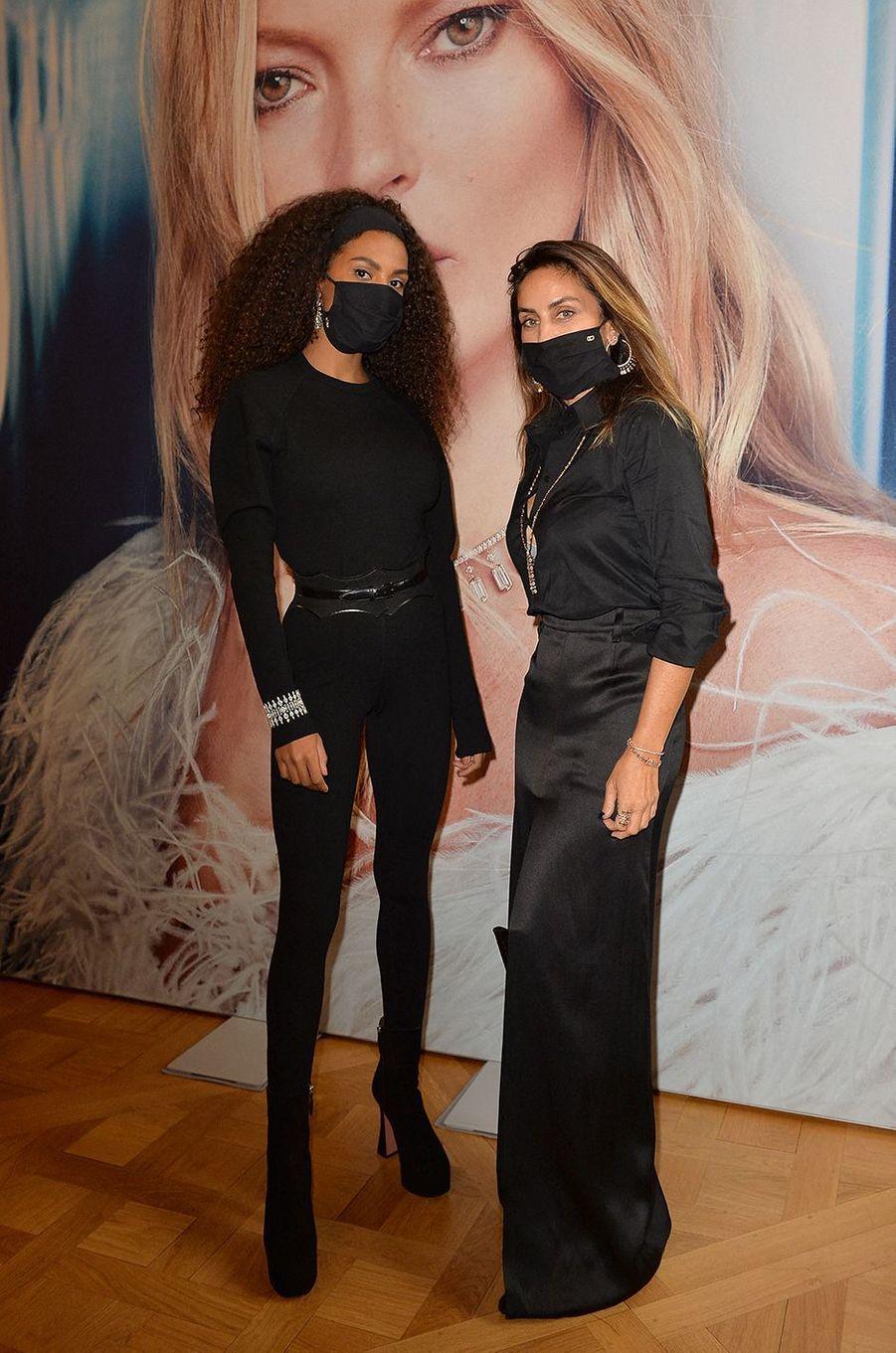 Tina Kunakey et Valérie Messikaà l'hôtel de Crillon à Paris le 5 octobre 2020