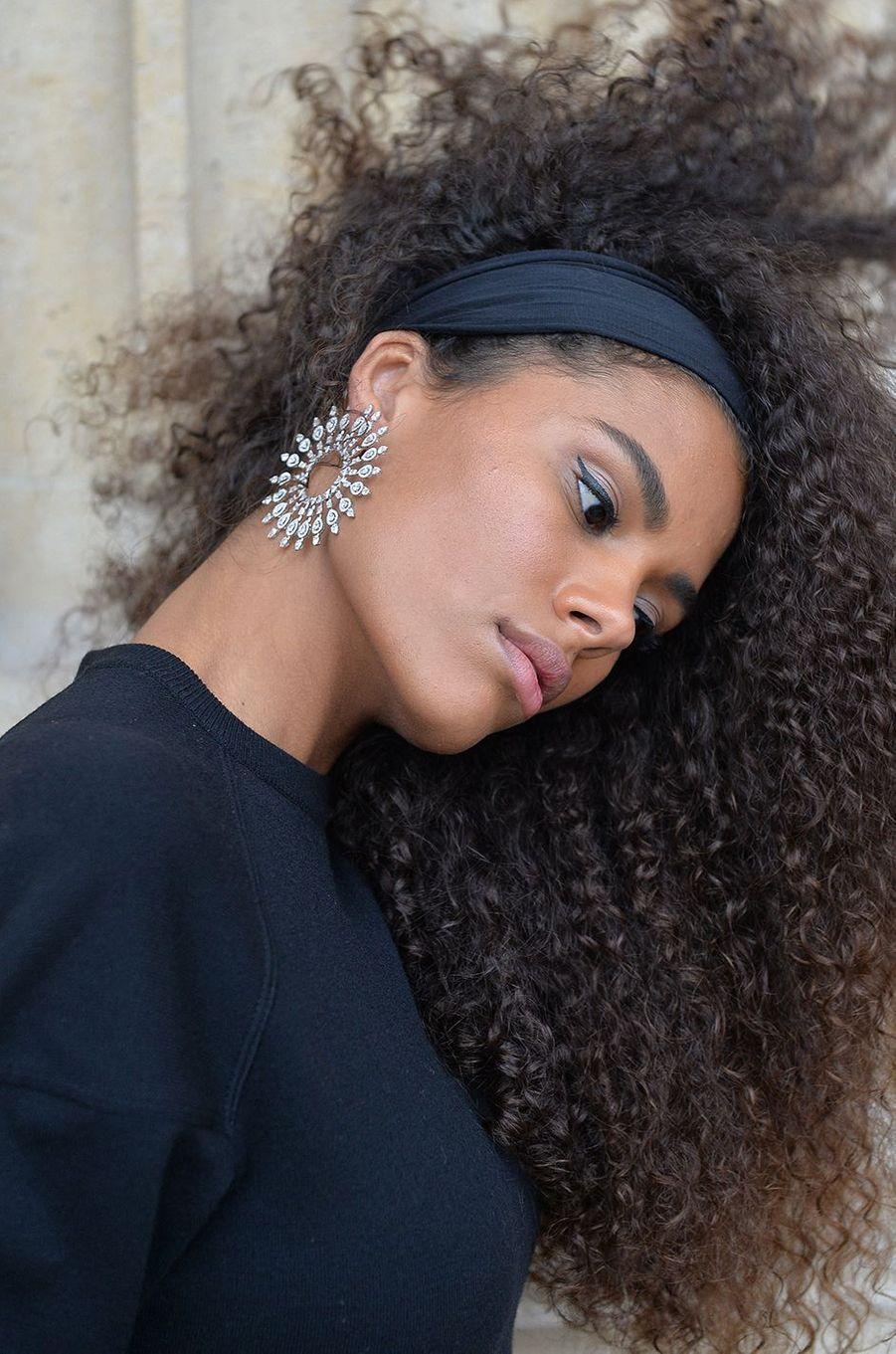 Tina Kunakeyà l'hôtel de Crillon à Paris le 5 octobre 2020