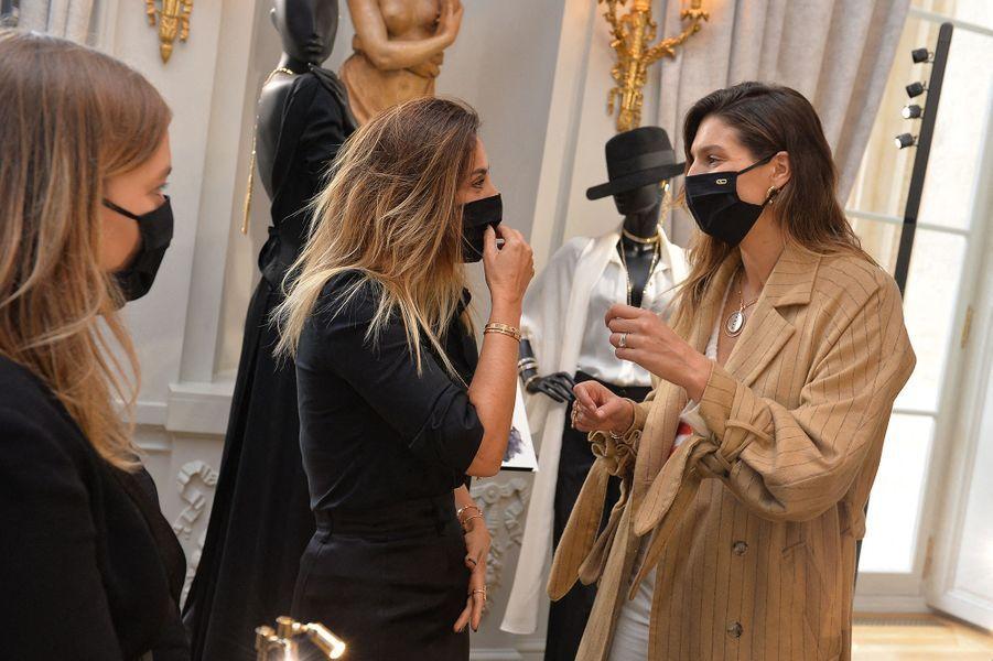 Valérie Messika et Laury Thillemanà l'hôtel de Crillon à Paris le 5 octobre 2020