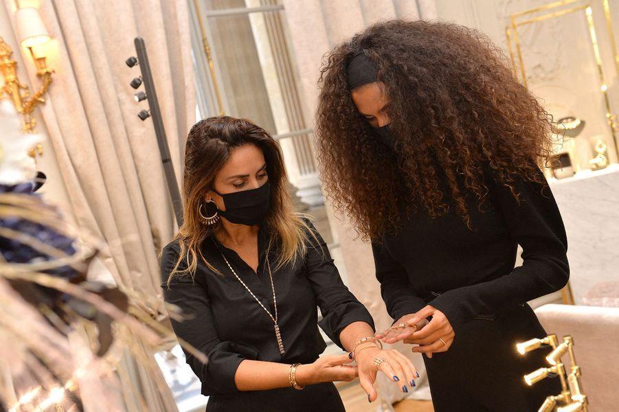 Valérie Messika et Tina Kunakeyà l'hôtel de Crillon à Paris le 5 octobre 2020