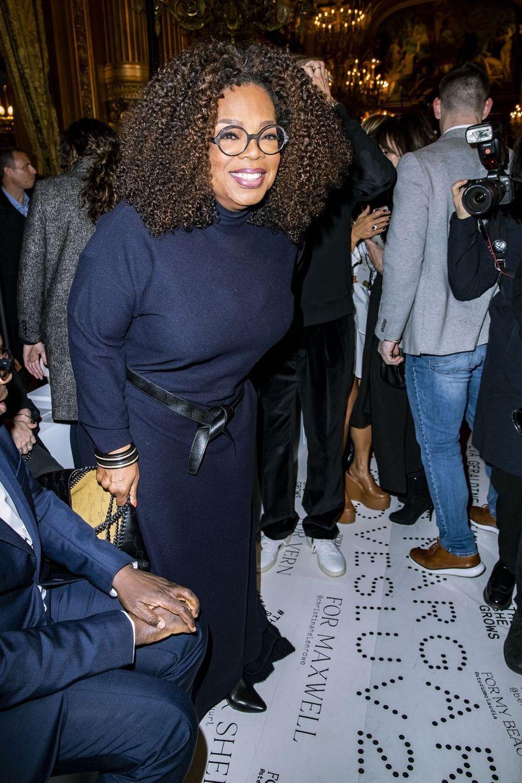 Oprah Winfrey lors du défilé Stella McCartney à Paris, le 4 mars 2019