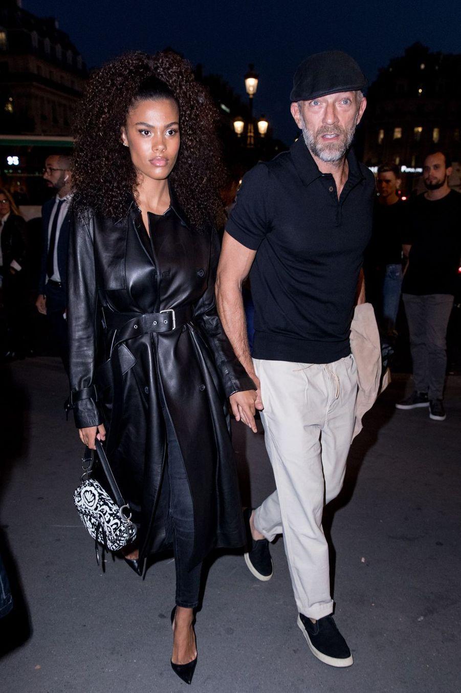 Vincent Cassel et sa femme Tina Kunakey à l'Opéra Garnier à Paris, le 11 septembre 2018